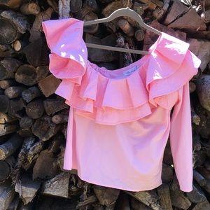 Chicwish One-Shoulder Ruffle Shirt